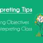 Learning objectives of an interpreting class