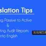 Converting Passive to Active - Translating Audit Reports into English