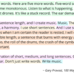 On Varying Sentence Length